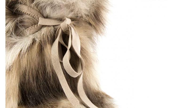 Śniegowce oscar baffy-short iceburg, beż, futro naturalne 4