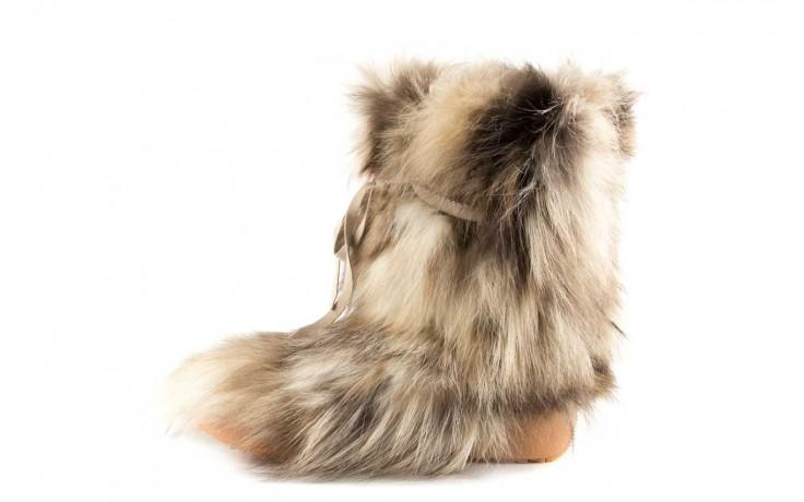 Śniegowce oscar baffy-short iceburg, beż, futro naturalne 2