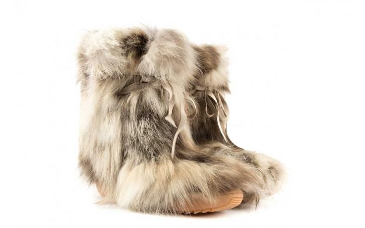 Śniegowce oscar baffy-short iceburg, beż, futro naturalne 1