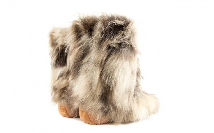 Śniegowce oscar baffy-short iceburg, beż, futro naturalne 3