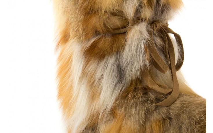 Śniegowce oscar baffy-short red, brąz/rudy, futro naturalne - oscar - nasze marki 4