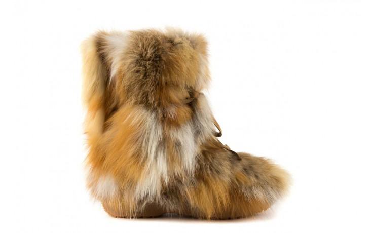 Śniegowce oscar baffy-short red, brąz/rudy, futro naturalne - oscar - nasze marki