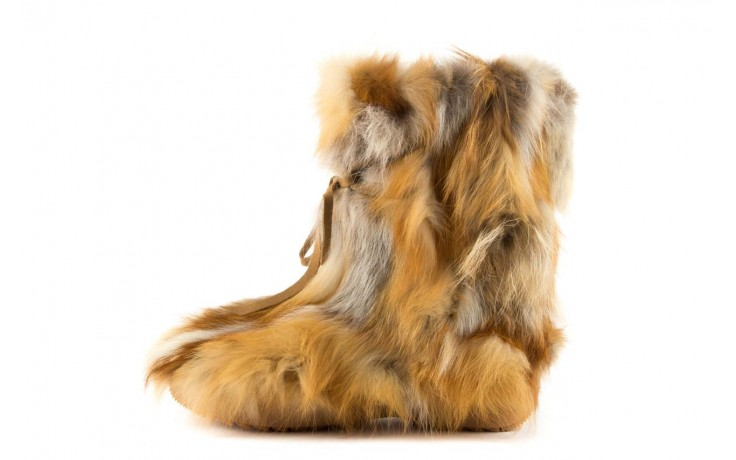 Śniegowce oscar baffy-short red, brąz/rudy, futro naturalne - oscar - nasze marki 2