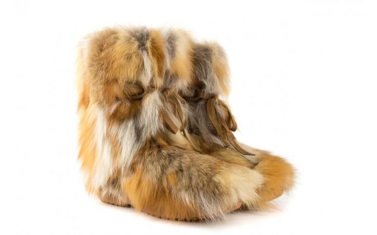 Śniegowce oscar baffy-short red, brąz/rudy, futro naturalne - oscar - nasze marki 1