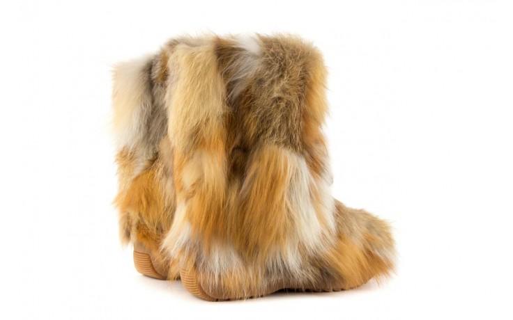 Śniegowce oscar baffy-short red, brąz/rudy, futro naturalne - oscar - nasze marki 3