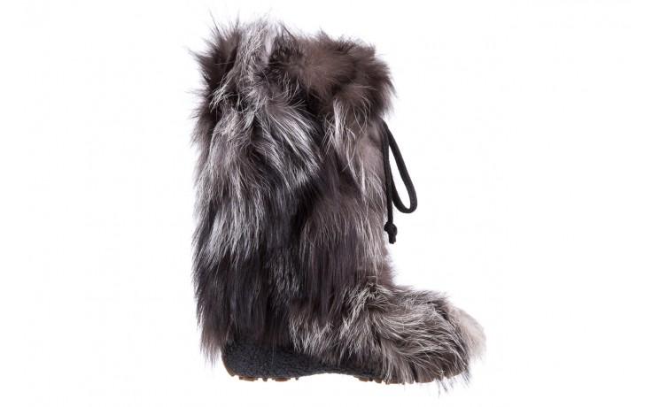 Śniegowce oscar baffy v silver, szary, futro naturalne - oscar - nasze marki