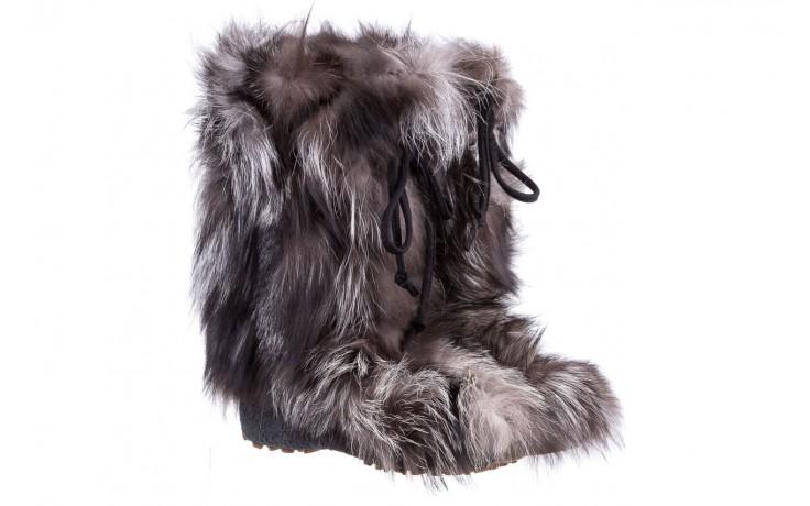 Śniegowce oscar baffy v silver, szary, futro naturalne - oscar - nasze marki 1