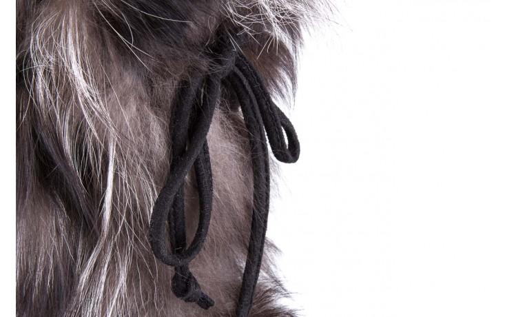 Śniegowce oscar baffy v silver, szary, futro naturalne - oscar - nasze marki 4