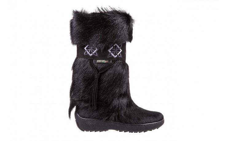 Śniegowce oscar nevada black ,czarny, futro naturalne  - oscar - nasze marki