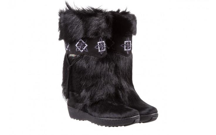 Śniegowce oscar nevada black ,czarny, futro naturalne  - oscar - nasze marki 1