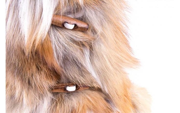 Śniegowce oscar yukon beige red, beż/ biały, futro naturalne  - oscar - nasze marki 5