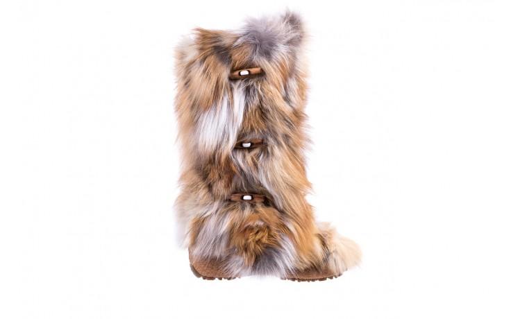 Śniegowce oscar yukon beige red, beż/ biały, futro naturalne  - oscar - nasze marki
