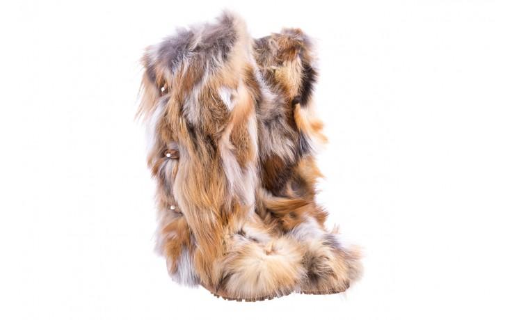 Śniegowce oscar yukon beige red, beż/ biały, futro naturalne  - oscar - nasze marki 1