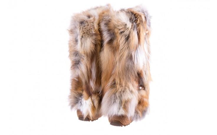 Śniegowce oscar yukon beige red, beż/ biały, futro naturalne  - oscar - nasze marki 3