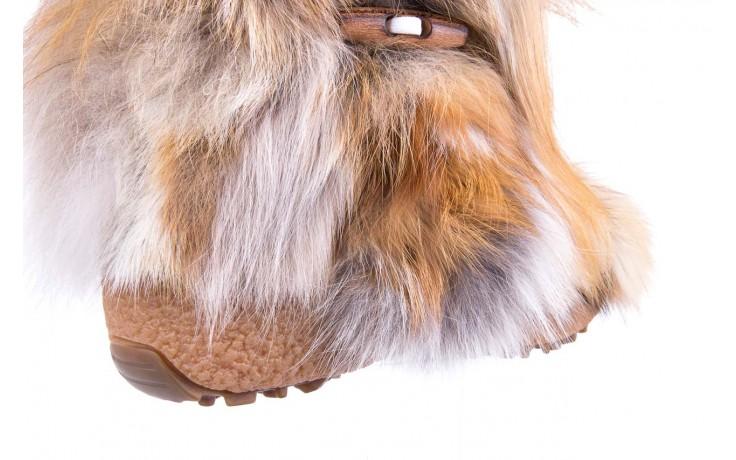 Śniegowce oscar yukon beige red, beż/ biały, futro naturalne  - oscar - nasze marki 4