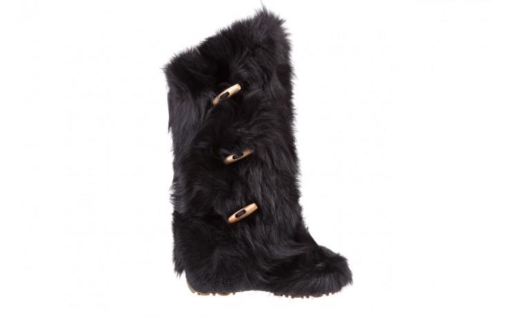 Śniegowce oscar yukon black, czarny, futro naturalne  - oscar - nasze marki