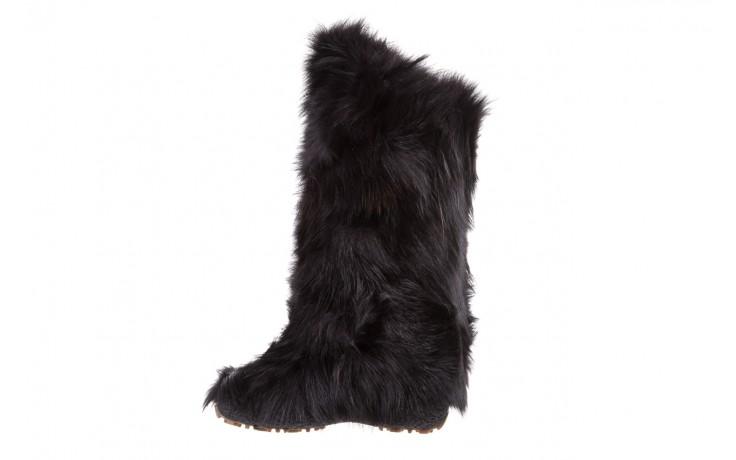 Śniegowce oscar yukon black, czarny, futro naturalne 2