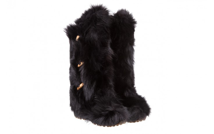 Śniegowce oscar yukon black, czarny, futro naturalne 1