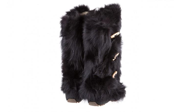 Śniegowce oscar yukon black, czarny, futro naturalne  - oscar - nasze marki 3