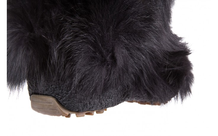 Śniegowce oscar yukon black, czarny, futro naturalne 4