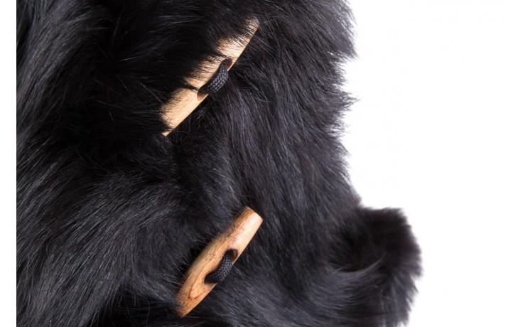 Śniegowce oscar yukon black, czarny, futro naturalne  - oscar - nasze marki 5