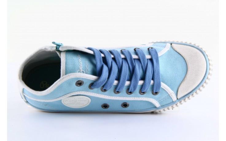 Trampki pepe jeans pls30010 507 ice blue, niebieski, materiał - wysokie - trampki - buty damskie - kobieta 5