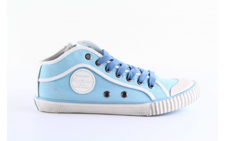 Trampki pepe jeans pls30010 507 ice blue, niebieski, materiał - wysokie - trampki - buty damskie - kobieta