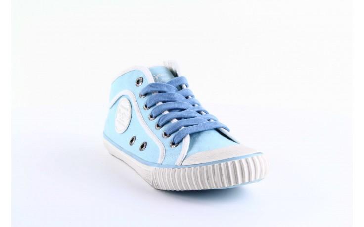 Trampki pepe jeans pls30010 507 ice blue, niebieski, materiał - wysokie - trampki - buty damskie - kobieta 2