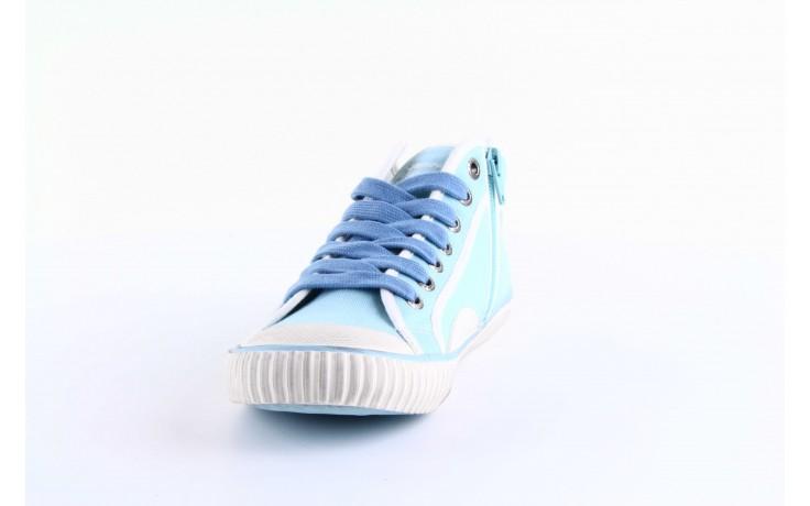 Trampki pepe jeans pls30010 507 ice blue, niebieski, materiał - wysokie - trampki - buty damskie - kobieta 3