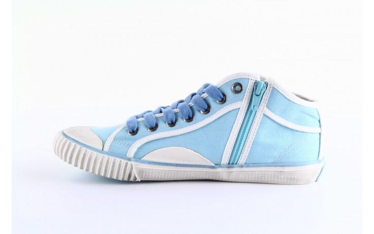 Trampki pepe jeans pls30010 507 ice blue, niebieski, materiał - wysokie - trampki - buty damskie - kobieta 1