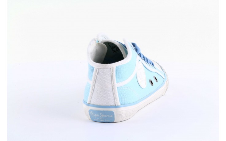 Trampki pepe jeans pls30010 507 ice blue, niebieski, materiał - wysokie - trampki - buty damskie - kobieta 4