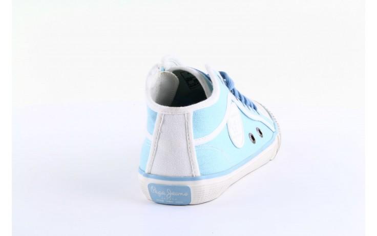 Trampki pepe jeans pls30010 507 ice blue, niebieski, materiał - pepe jeans  - nasze marki 4
