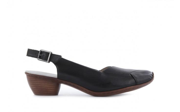 Sandały rieker 43790-00 black, czarny, skóra naturalna