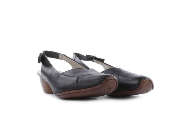 Sandały rieker 43790-00 black, czarny, skóra naturalna 1