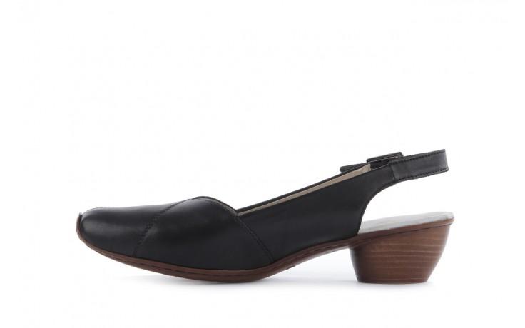 Sandały rieker 43790-00 black, czarny, skóra naturalna 2