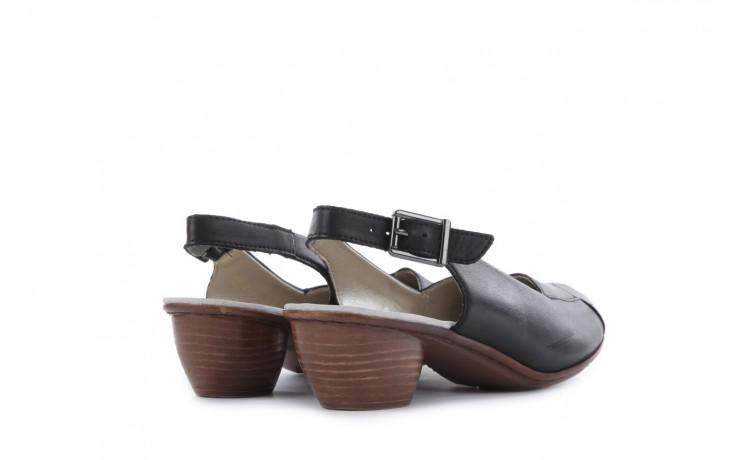 Sandały rieker 43790-00 black, czarny, skóra naturalna 3