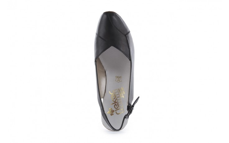 Sandały rieker 43790-00 black, czarny, skóra naturalna 4