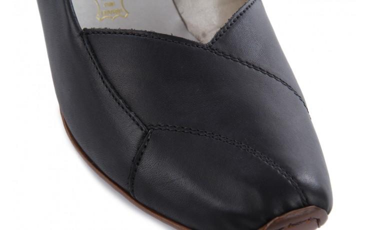 Sandały rieker 43790-00 black, czarny, skóra naturalna 5