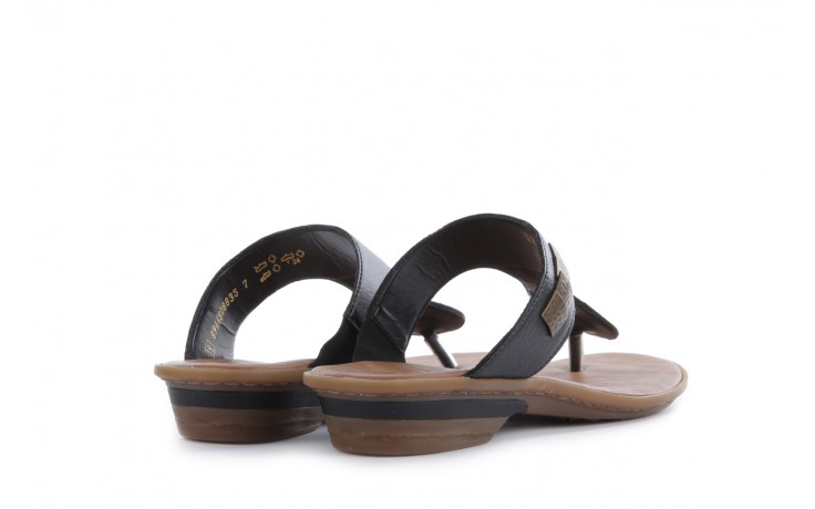 Klapki rieker 63481-01 black, czarny, skóra ekologiczna 3