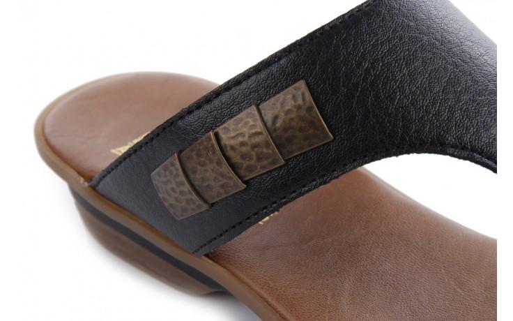 Klapki rieker 63481-01 black, czarny, skóra ekologiczna 5