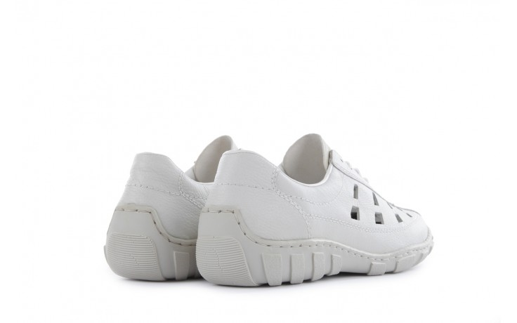 Półbuty rieker l3105-81 white, biały, skóra naturalna 3