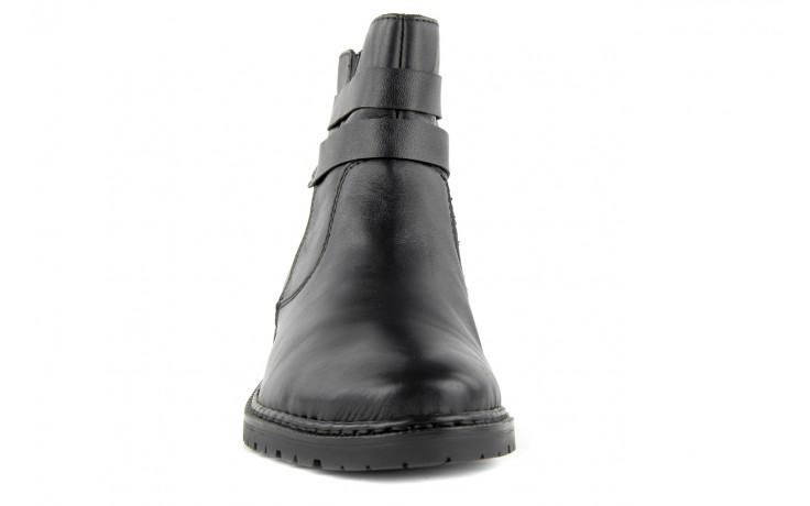 Trzewiki rieker z1953-00 black, czarny, skóra naturalna - nasze marki 3