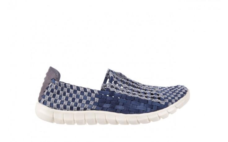 Półbuty rock arbatax washed navy, niebieski, materiał - rock - nasze marki