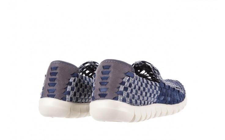 Półbuty rock arbatax washed navy, niebieski, materiał - rock - nasze marki 3