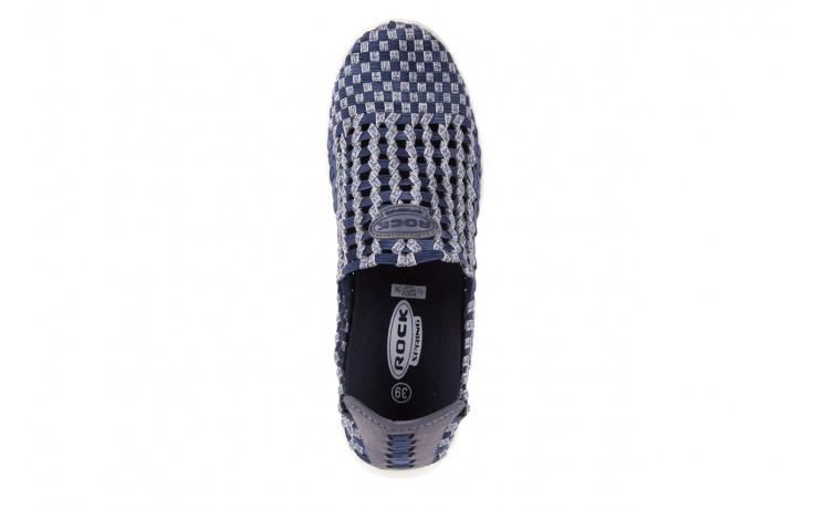 Półbuty rock arbatax washed navy, niebieski, materiał - rock - nasze marki 4