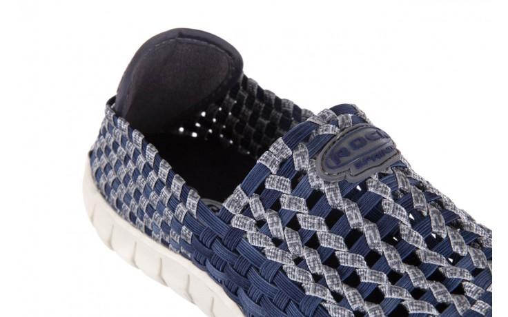 Półbuty rock arbatax washed navy, niebieski, materiał - rock - nasze marki 5