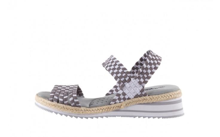 Sandały rock balnea white grey, biały/szary, materiał  - koturny - buty damskie - kobieta 2