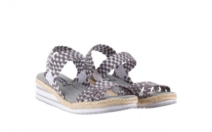 Sandały rock balnea white grey, biały/szary, materiał  - koturny - buty damskie - kobieta 1