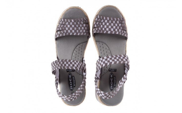 Sandały rock balnea white grey, biały/szary, materiał  - koturny - buty damskie - kobieta 4