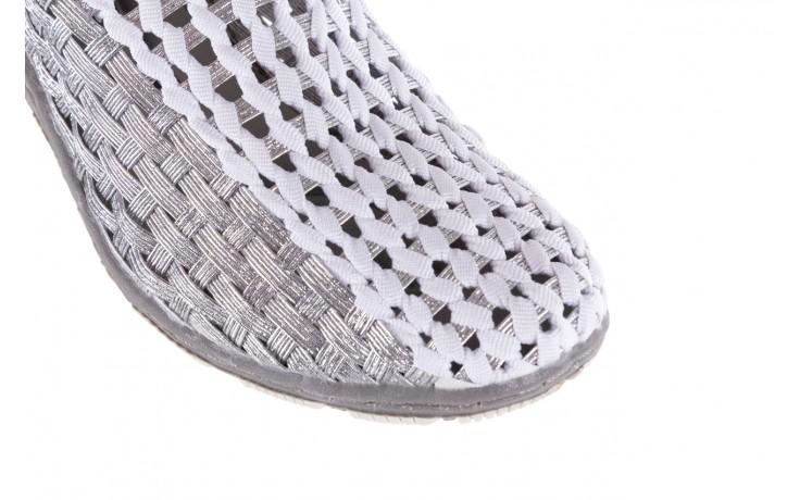 Półbuty rock cape horn silver white, srebrny/biały, materiał  - rock - nasze marki 5
